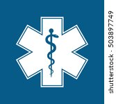 medical symbol of the emergency ... | Shutterstock .eps vector #503897749