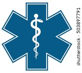 medical symbol of the emergency ... | Shutterstock .eps vector #503897791