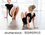 cute little girl ballerina and... | Shutterstock . vector #503905915