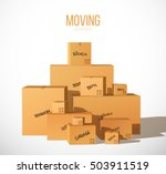 pile of stacked boxes.... | Shutterstock .eps vector #503911519
