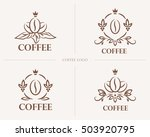 fine luxury calligraphic coffee ... | Shutterstock .eps vector #503920795