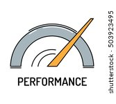 performance line icon | Shutterstock .eps vector #503923495