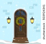 door decoration for the... | Shutterstock .eps vector #503924341