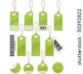 set of price tags in different... | Shutterstock .eps vector #50392822