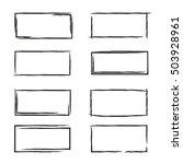 black grunge frames | Shutterstock .eps vector #503928961