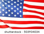 ruffled american flag  close up ... | Shutterstock . vector #503934034