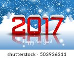 vector 2017 happy new year... | Shutterstock .eps vector #503936311
