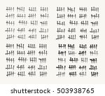 waiting counting tally numbers... | Shutterstock .eps vector #503938765