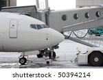 airport scene at winter time | Shutterstock . vector #50394214