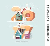 new year 2017. greeting card. | Shutterstock .eps vector #503943481