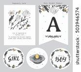 baby shower registry card... | Shutterstock .eps vector #503946574