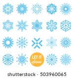 snowflake winter set. vector | Shutterstock .eps vector #503960065