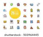 pet shop icons | Shutterstock .eps vector #503964445
