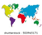 maps of the earth's. world map .... | Shutterstock .eps vector #503965171