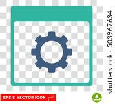 vector gear options calendar...   Shutterstock .eps vector #503967634