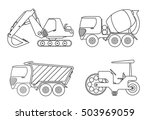 truck coloring book for kids... | Shutterstock .eps vector #503969059
