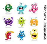 cute  monsters  set | Shutterstock .eps vector #503972059