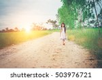 little girl with long hair... | Shutterstock . vector #503976721