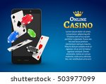 online mobile casino background.... | Shutterstock .eps vector #503977099
