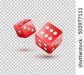 Dice Vector Design Isolated....