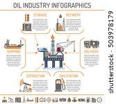 oil industry extraction... | Shutterstock .eps vector #503978179