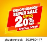 end off season super sale up to ... | Shutterstock . vector #503980447