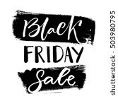 black friday sale banner with... | Shutterstock .eps vector #503980795