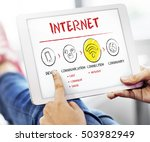 internet multimedia technology... | Shutterstock . vector #503982949
