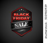 black friday sale badge. black... | Shutterstock .eps vector #503983939