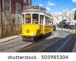 famous old yellow tram on... | Shutterstock . vector #503985304