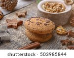 composition of cookies and... | Shutterstock . vector #503985844
