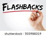 hand writing flashbacks with... | Shutterstock . vector #503988319