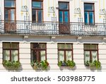 detail of windows and balcony... | Shutterstock . vector #503988775