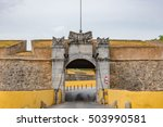 Small photo of ELVAS, PORTUGAL - JULY 6: City walls of Garrison Border Town of Elvas in Portugal on July 6, 2016. Garrison Border Town of Elvas was declared a UNESCO World Heritage Site.