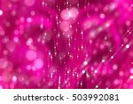 Abstract Background Pink Bokeh...