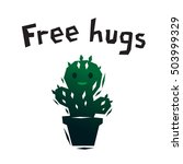 green free hugs smiling cactus...