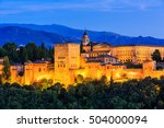 alhambra of granada  spain....   Shutterstock . vector #504000094