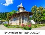 the voronet monastery  romania. ... | Shutterstock . vector #504000124