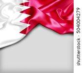 bahrain country flag on white... | Shutterstock . vector #504004279