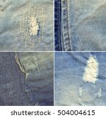 Set Of Four Blue Denim Jeans...
