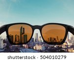 sunglasses with light brown... | Shutterstock . vector #504010279