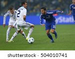 Small photo of KYIV, UKRAINE - OCTOBER 20, 2015: Eden Hazard runs and dribbles with ball, UEFA Chamions League Group Stage match between Dynamo Kyiv and Chelsea
