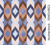 seamless geometric pattern with ... | Shutterstock .eps vector #504014821