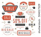 sale labels and tags design... | Shutterstock .eps vector #504017329