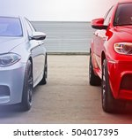part two cars on the background ... | Shutterstock . vector #504017395