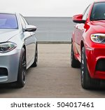 part two cars on the... | Shutterstock . vector #504017461