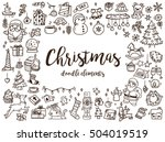 big set of christmas design... | Shutterstock .eps vector #504019519