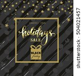 black friday sale poster.... | Shutterstock .eps vector #504021457
