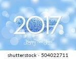 vector happy new year 2017... | Shutterstock .eps vector #504022711