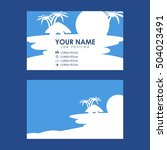 resort theme business card | Shutterstock .eps vector #504023491